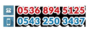 Telefon 0543 250 34 37